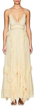 Ulla Johnson Women's Bardot Embellished Gauze Gown