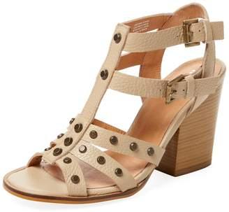 RENVY Women's Studded Strappy Leather Sandal