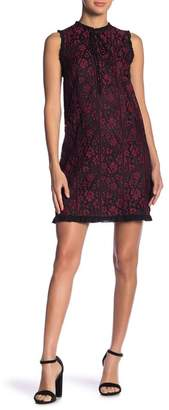 Kensie Floral Lace Ruffle Dress