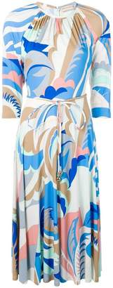 Emilio Pucci abstract print gathered dress