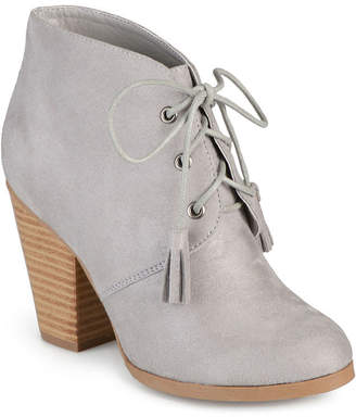 Journee Collection Wen Heeled Ankle Womens Booties