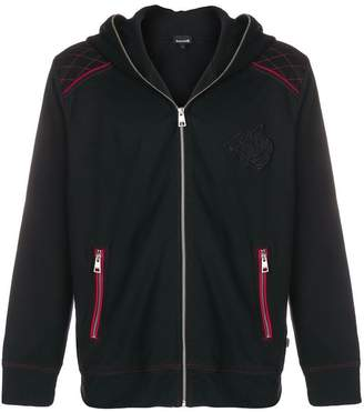 Just Cavalli tiger patch zipped hoodie