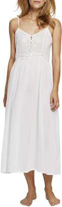 Pour Les Femmes Lace-Inset Long Nightgown