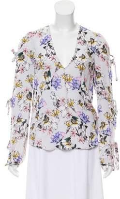 Marissa Webb Silk Printed Top