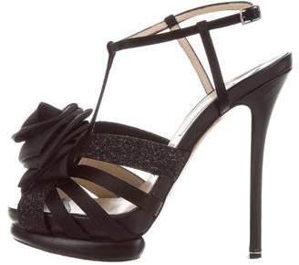 Nicholas Kirkwood Floral-Embellished T-Strap Sandals