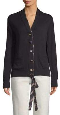 Marc Jacobs Tie-Placket Wool Cardigan