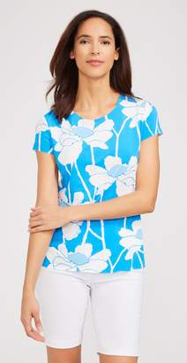 J.Mclaughlin Emory Cap Sleeve Tee in Freesia