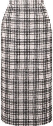 Antonio Berardi Checked Tweed Pencil Skirt - White