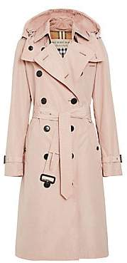 Burberry Women's Kensington Hooded Trench Coat