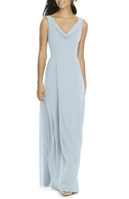 Women's Social Bridesmaids Cowl Neck Chiffon Gown $198 thestylecure.com