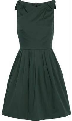 Raoul Wrap-Effect Bow-Detailed Pleated Cotton-Poplin Dress
