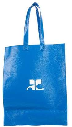 Courreges Grand Cabas Vinyl AC Tote Bag