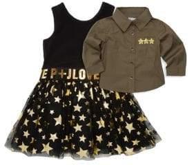 Little Girl's Two-Piece Shirt & Dress Set