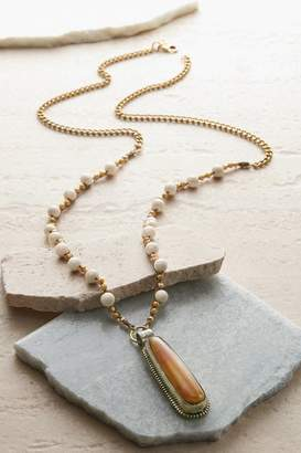 Soft Surroundings Drop Tiger Stone Necklace