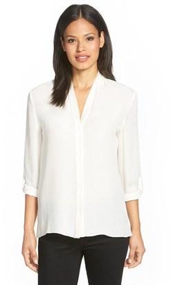 Women's Elie Tahari 'Anabella' V-Neck Silk Blouse $228 thestylecure.com