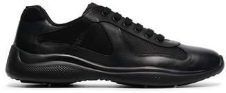 Prada black America's Cup lowtop sneakers