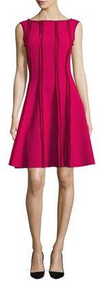 Jason Wu Sleeveless Frayed Stretch-Crepe Dress, Raspberry $1,795 thestylecure.com
