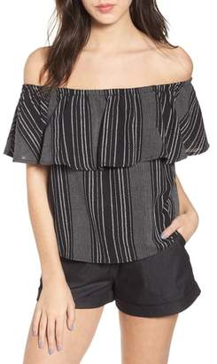 LIRA Stella Stripe Off the Shoulder Top