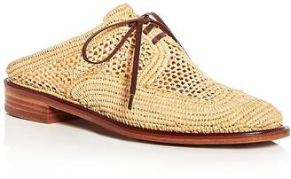 Clergerie Robert Women's Jaly Raffia Lace Up Mules