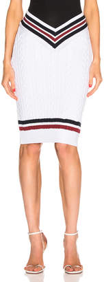 Y/Project Cut Out Skirt in White & Beige | FWRD