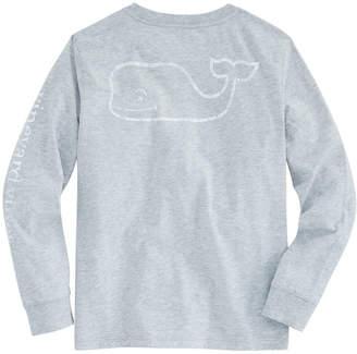 Vineyard Vines Boys Long-Sleeve Glow In The Dark Vintage Whale Pocket T-Shirt