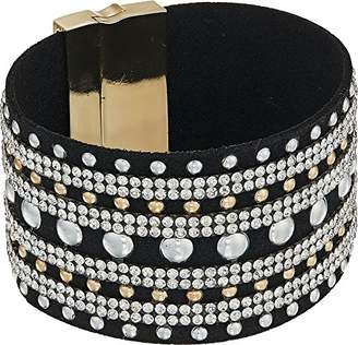 GUESS Chic Metal Women's Magnetic Cuff Bracelet W Stones