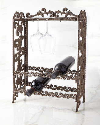 GG Collection G G Collection Metal Acanthus Leaf Wine Rack