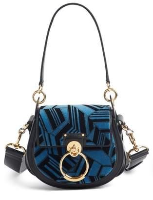 Chloé Small Tess Geo Calfskin Leather Shoulder Bag