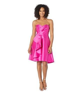 Adrianna Papell Strapless Sweetheart Neckline Ruffle Cocktail Dress