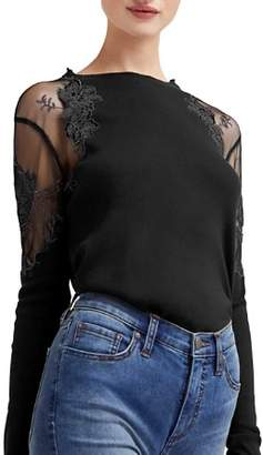 Free People Daniella Sheer-Shoulder Top