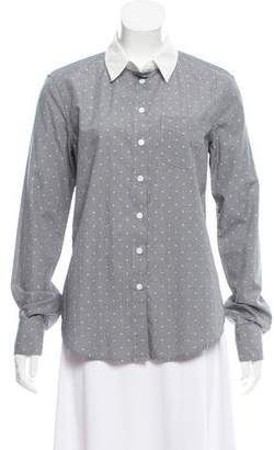 Band Of Outsiders Poplin Long Sleeve Top