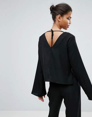 Minimum Mbym Moves Enny Flared Sleeve Blouse