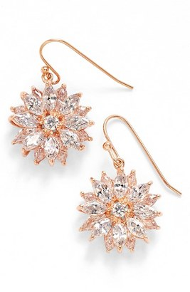 Women's Nina 'Floral' Crystal Drop Earrings $84 thestylecure.com