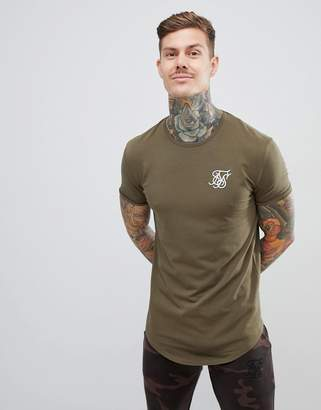 SikSilk short sleeve t-shirt in khaki