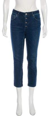 Anine Bing Mid-Rise Straight-Leg Jeans