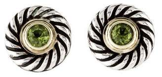 David Yurman Peridot Cookie Stud Earrings