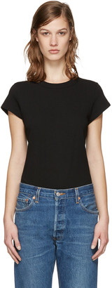 T by Alexander Wang Black Jersey T-Shirt Bodysuit $155 thestylecure.com