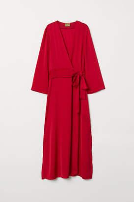 H&M Long Satin Dress - Red