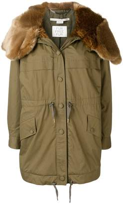 Stella McCartney fur trimmed parka coat