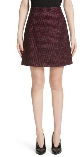 Women's Michael Kors Herringbone Wool Blend A-Line Skirt