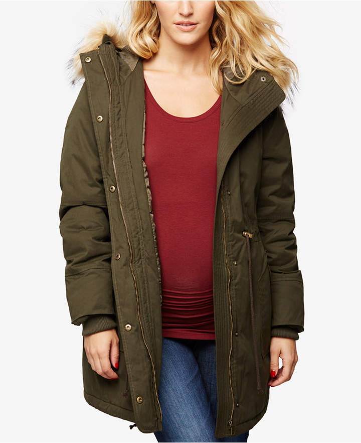 A Pea In The PodA Pea In The Pod Maternity Snap-Front Coat