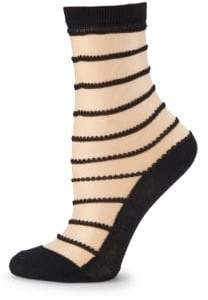 Wolford Isabella Stripe Ankle Socks