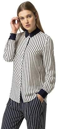Stripe Viscose Blouse $119.50 thestylecure.com