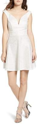 Speechless Glitter Fit & Flare Dress
