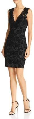 GUESS Drea Sleeveless Flocked-Lace Dress