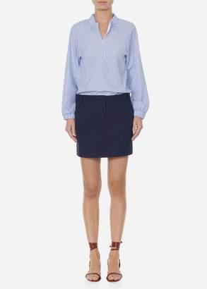 Tibi Isabelle Shirting Zip Front Tunic