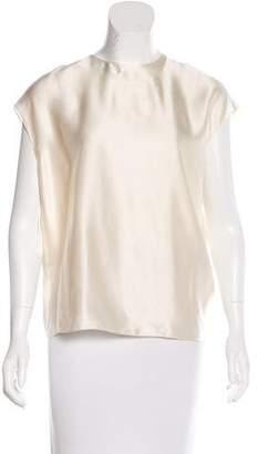 Lanvin 2015 Oversize Silk Blouse