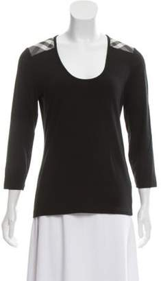 Burberry Long Sleeve Knit Top Black Long Sleeve Knit Top