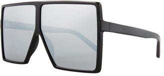 Saint Laurent New Wave 183 Betty Shield Sunglasses $490 thestylecure.com