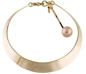 Lele Sadoughi Faux Pearl Sands Of Time Pendulum Collar Necklace